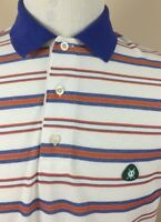 Brooks Brothers Polo Shirt St Andrews Links Poly/Cotton Blend Men's size Medium