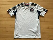 Chicago Fire White ADIDAS Football Soccer Jersey Youth Sz M Boys MLS