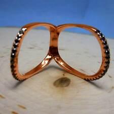 Rose-Gold Black-Crystal Knuckle Ring