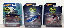 Hot Wheels Classic TV Series BAT Mobile BAT copter BAT boat 3pc lot