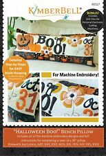 Halloween Boo! Bench Pillow Machine Embroidery Cd Kimberbell Designs New!
