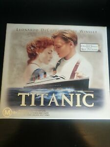 Titanic VHS Sealed Collectors Box Set Includes VHS Tape, 35mm Film Cell + Cards