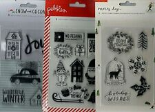 CHRISTMAS & WINTER themed stamp sets~American Crafts~ADORABLE!!~Quick Ship!!