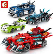 Bloques De Construcción Juguetes de Carreras de Auto Figur Modelo sammeln Regalos Niños Hágalo usted mismo conjunto de 4 Mini