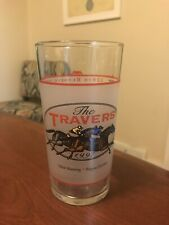 NEW Limited Edition Saratoga Race Course 1997 Travers Horse Racing Glass-128 Run