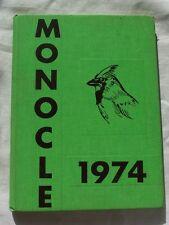 1974 CHIPPEWA FALLS HIGH SCHOOL YEARBOOK CHIPPEWA FALLS, WISCONSIN  MONOCLE