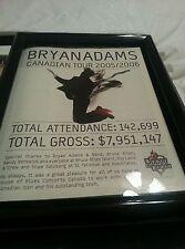 Bryan Adams Canadian Tour 2005-2006 Promo Ad Framed!