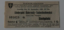Ticket for collectors * Austria - Czechoslovakia 1962 in Wien