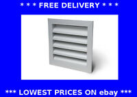 Weather louvre fixed wall grille ducting aluminium extractor fan ventilation