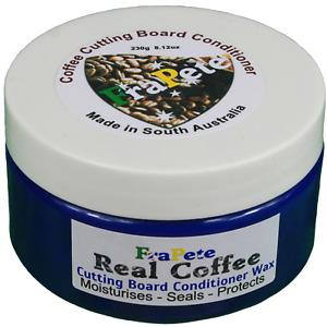 FraPete  Coffee Cutting Board Cream Oil Conditioner Wax Real Coffee OIl 245 mils