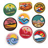 Iron On Patches Embroidered Scenery Patch Round Badge Fabric DIY Applique Sewing