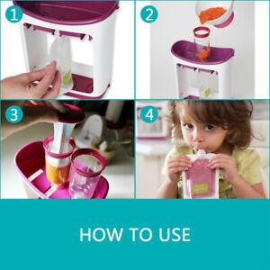Feeding Baby Food Dispenser Squeeze Fruit Maker StationToddler Infant