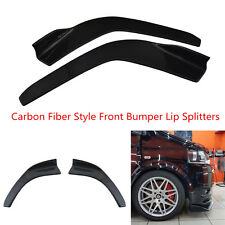 2 Pcs Carbon Fiber Style Car Front Bumper Lip Anti Collision Diffuser Splitters