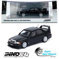 INNO64 MERCEDES-BENZ AMG 190E 2.5 - 16V EVOLUTION II (Black) W/Extra Wheels 1:64