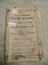 The London Yachting Catalogue of Yacht & Motor Boat Fittings, Catalogue U