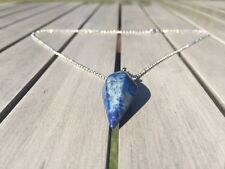 Pendolo cristallo chakra guarigione rabdomanzia Reiki pendente collana lapislazzuli