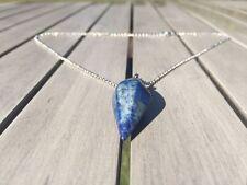 Crystal Pendulum Healing Chakra Dowsing Reiki Pendant Necklace Lapis Lazuli