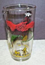 Vintage Wild Turkey Glass  with Hunter and Pointer Dog