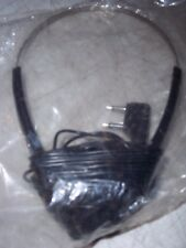 NIP RARE VINTAGE AIRLINES HEADSET OVER THE EHAD HEADPHONES w/ AMERICAN FLAG LOGO