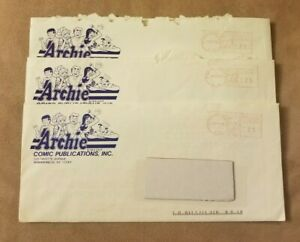 3x ARCHIE COMICS 1989 & 1990 FAN CLUB NEWS LETTERS & CONTENTS ORIGINAL ENVELOPES