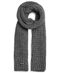 Steve Madden Men's Cable Knit Scarf Grey-One Size