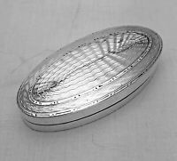 Made by Liberty Antique Solid Silver Oval Box  1907 (1190-9-YAO)