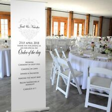 Majestic WEDDING BANNER - Pop Up Roller Banner. WEDDING RECEPTION DECORATION