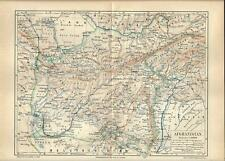 Carta geografica antica AFGHANISTAN 1890 Old antique map