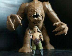 Vintage Star Wars Rancor Monster & Rancor Keeper Figures Kenner 1984