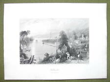 CANADA Hallowell Bay of Quinte - 1841 Engraving Print by BARTLETT