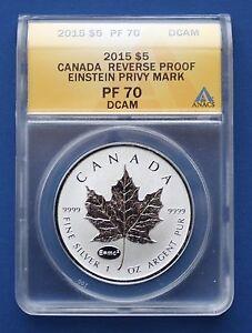2014 Silver Maple Leaf with Einstein (E=mc2) Privy Mark - ANACS PF70 DCAM