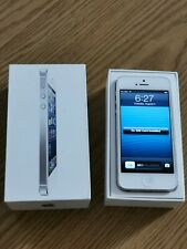 iPhone 5 White Silver 16gb IOS 6 With Box Rare