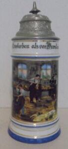 Humpen Bierkrug Zunftkrug Schlosser um 1900 Handwerker Porzellan Sammelkrüge