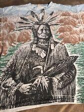 native indian vintage t shirt 90s single stitch size Xl