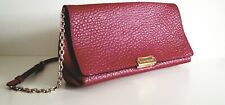 Burberry mildenhall red grain leather clutch- 100 guenine- with dust bag