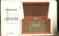 Crosley Lancaster 6-in-1 Entertainment Center Bluetooth Record CD Cassette New