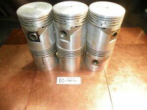 NOS 1941-1948 Oldsmobile 6 Cylinder Aluminum Piston Set W/ Pins L736F +.020