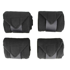 Rural365 | Horse Polo Wrap Horse Leg Wrap 4-Pack in Black – Horse Leg Wraps