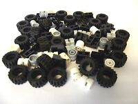 ☀️NEW City - Wheel, Tire and Axle Set - Black, White, and Light Gray, 72 Pieces