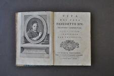 Religione Papato Vita Papa Benedetto XIV Prospero Lambertini Bologna 1783