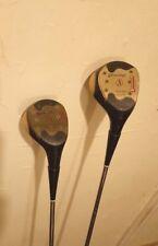 "Spalding 1 wood and 4 woods  Personal Model "" George Knudsen ""  in GREAT shape!"