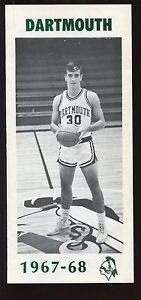 1967/1968 NCAA Basketball Dartmouth Media Guide EXMT