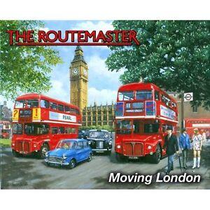 Routemaster Moving London large steel sign 400mm x 300mm (og)