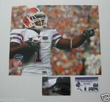 PERCY HARVIN signed FLORIDA GATORS 16x20 Photo w/2x National Champ & PIC - GTSM