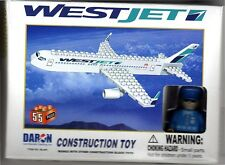Construction Toy WestJet Canadian Airlines Building Brick Toy with Pilot New