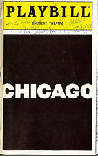 Chicago Sandy Duncan Autographed Signed+4 Playbill Shubert Theatre New York 1999