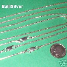 "3 pieces 16.5"" 42cm Sterling Silver 925 Thick 1.6mm SNAKE CHAIN Necklaces Lot"