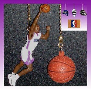 NBA SACRAMENTO KINGS C. WEBBER FIGURE & LOGO OR NBA BASKETBALL CEILING FAN PULLS
