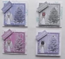 PK 4 ANGEL XMAS EMBELLISHMENT TOPPERS FOR CARDS