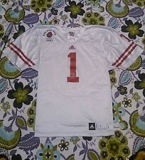 Wisconsin Badgers Football Jersey Adidas Rose Bowl Sz Youth Lg Red White Cross 1